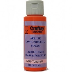 Glass and Porcelain Enamel Acrylic Paint Craftsy E-370 Orange