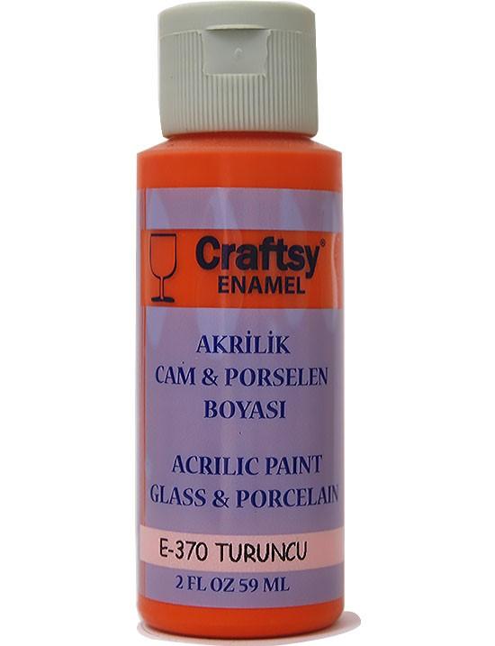 Glass And Porcelain Enamel Acrylic Paint Craftsy E 370 Orange