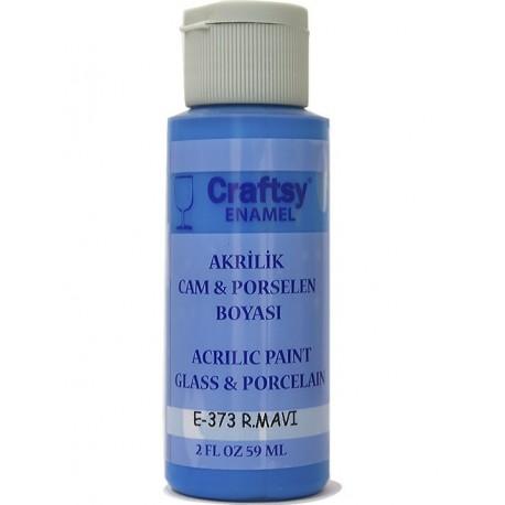 Craftsy Enamel Akrilik Cam Ve Porselen Boyası E-373 R.Mavi