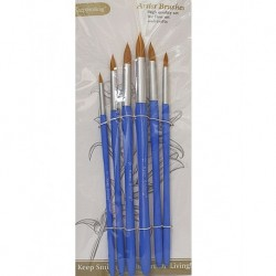 rush Set a 6-round Artist Brush Brushes