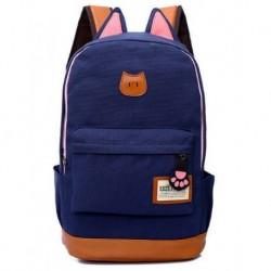 Kedi Kulaklı Sırt Çantası Lajivert Renk