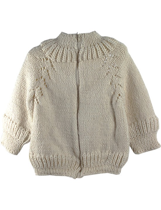 814e6df7c0b4 Baby Cardigan In Cream With Zip 1.Model