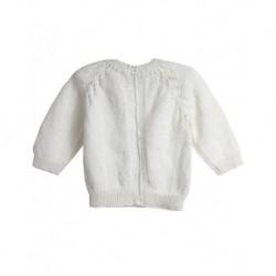Bebek Hırkası Beyaz Renk Fermuarlı