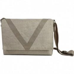 Ve Design Horizontal Postman's Bag Cream Color