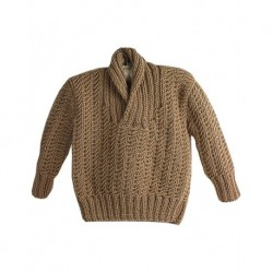 Baby Jumper In Brown With Collar