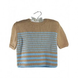 Baby Jumper In Brown And Blue