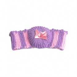 Hair Band In Pink And Purple With Bow