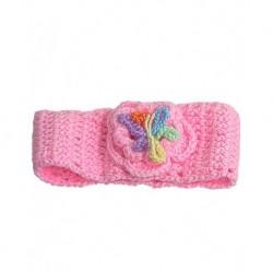 Saç Bandı Pembe Çiçekli Bebekler İçin