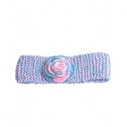 Hair Band In Pink And Pink And Blue Flower