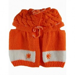 Baby Vest In Orange And White