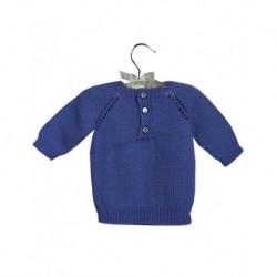 Bebek Kazağı Mavi Renk Pepe Düğmeli