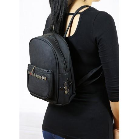 Stapler Backpack Black Color