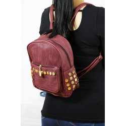 Stapler Backpack Bordeaux Coloured