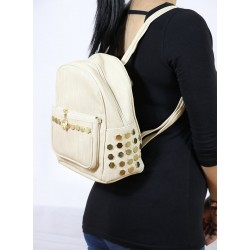 Stapler Backpack Cream Color