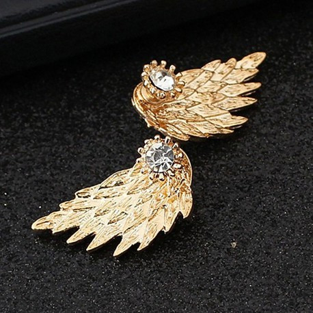 Angel Winged Stone Earring