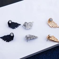 Angel Winged Stone Earring