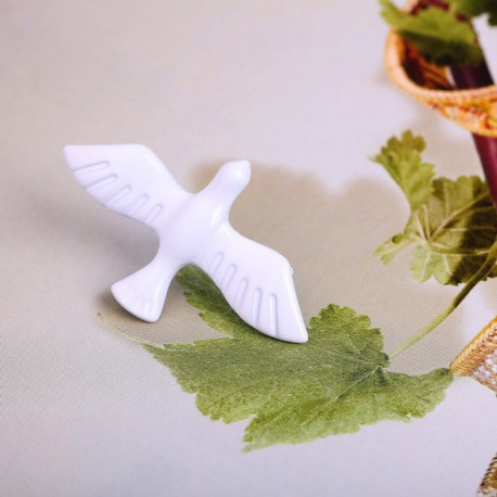 White Pigeon Brooch