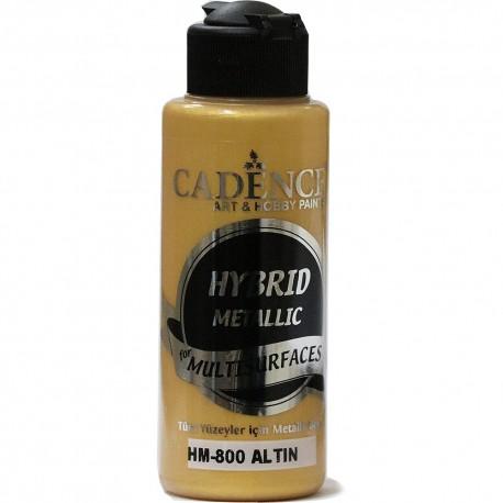 Cadence Tüm Yüzeyler İçin Metalik Boya HM-800 Altın
