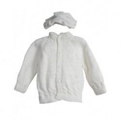 Baby Cardigan Set İn White