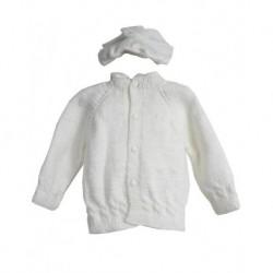 Bebek Hırka Takımı Beyaz Renk