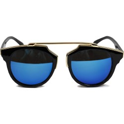Cat Model Gold Bridged Framed Retro Vintage Sunglasses