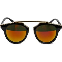 Cat Model Gold Bridged Framed Retro Vintage Sunglasses