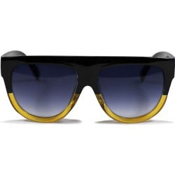 Hand Polish Viktorya Model All Framed Black Yellow Sunglasses