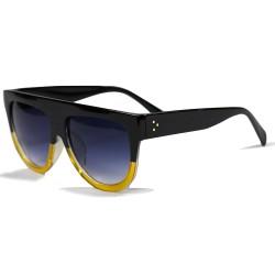 Hand Polish Viktorya Model All Framed Black Yellow Sunglasses