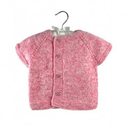 Baby Vest In Pink With Side Buttons
