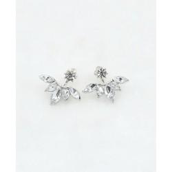 Crystal Stone Metal Earring