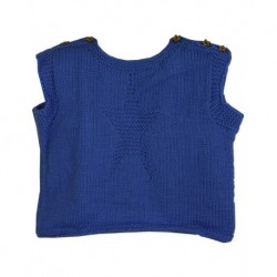 Baby Vest In Blue With Star Design