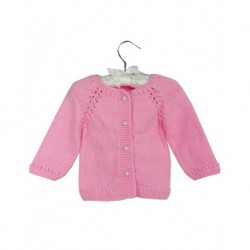 Baby Cardigan In Pink With Specially Made Buttons