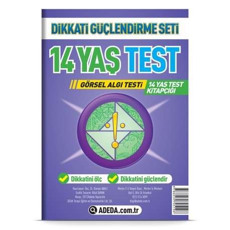 Visual Perception Test 14 Age Test Booklet