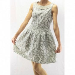 Jimmy Key Textured Dress With Stone Detail On Collar