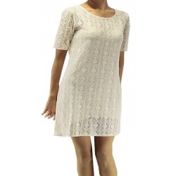 Jimmy Key White Tricot Dress