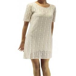 Jimmy Key White Tricot Dress