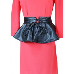 Black Skirt Leather Belt