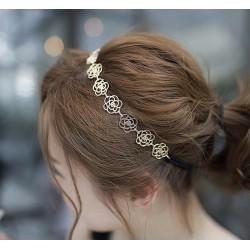Metal Çiçekli Saç Bandı