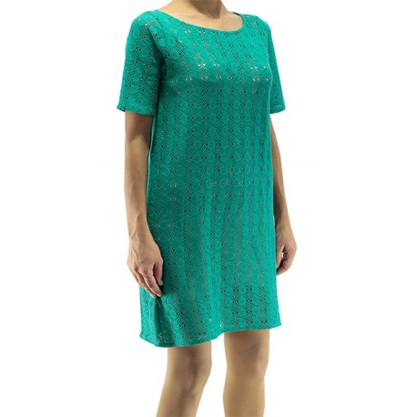 Jimmy Key Green Tricot Dress
