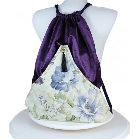Ve Design Ethnic Velvet Backpack