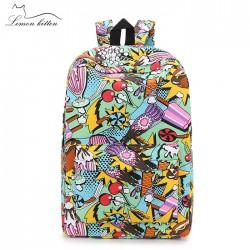 Graffiti Summer Patterned Backpack