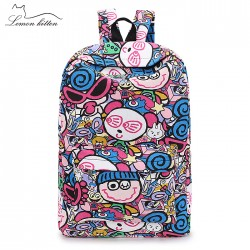 Graffiti Children Patterned Backpack
