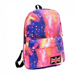Galaxy Patterned Pink Backpack