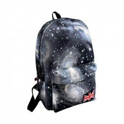 Galaksi Desenli Siyah Sırt Çantası
