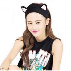 Kedi Kulaklı Siyah Saç Bandı