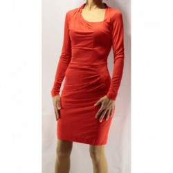 Mango Red Combed Cotton Dress