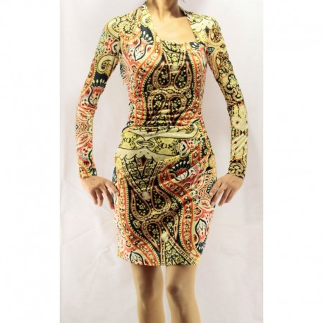 Mango Scarf Design Combed Cotton Dress