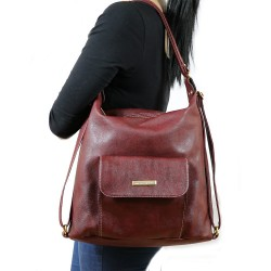 New Fashion Double Use Burgundy Colorful Woman Bag
