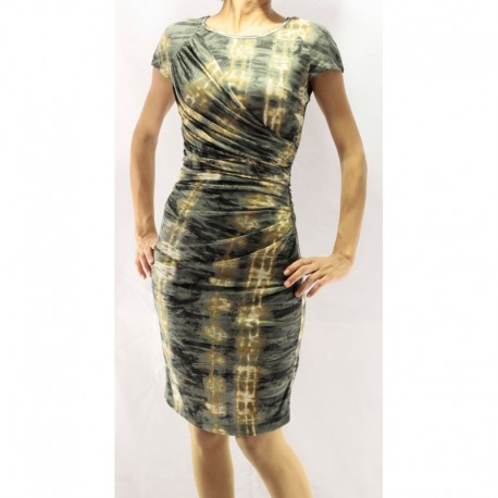 Mango Green Detailed Combed Cotton Dress