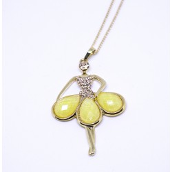 Ballerina Fashioned Yellow Minnie Pendant
